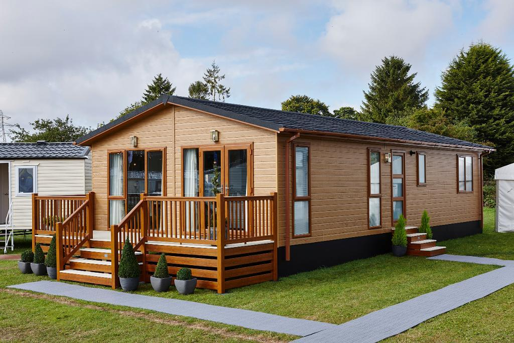 3 Bed Wooden Lodge Property for Sale in Plas Coch Holiday Home Park, LL61 6EJ
